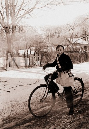 A paperboy for the Toronto Star in Whitby, Ontario, Canada, 1940 -- Public Domain