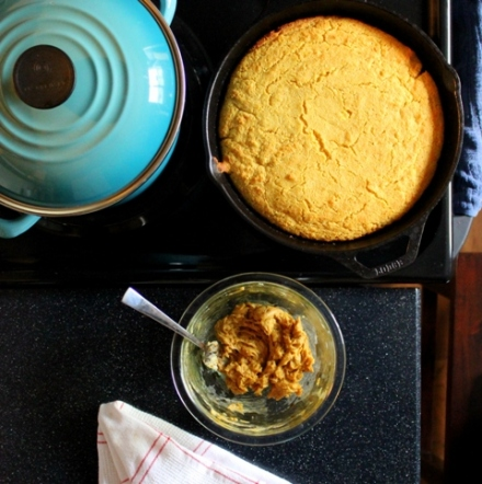 cast iron cornbread with salted molasses butter 4