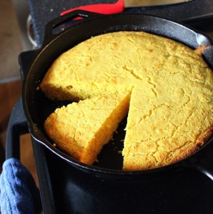 Cast-Iron Cornbread with Salted Molasses Butter | Small Kitchen ...