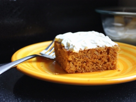 banana molasses cake with sweet creme fraiche 2