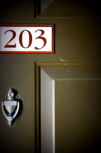 our apartment number